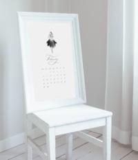 Kalendarz luty do wydryku