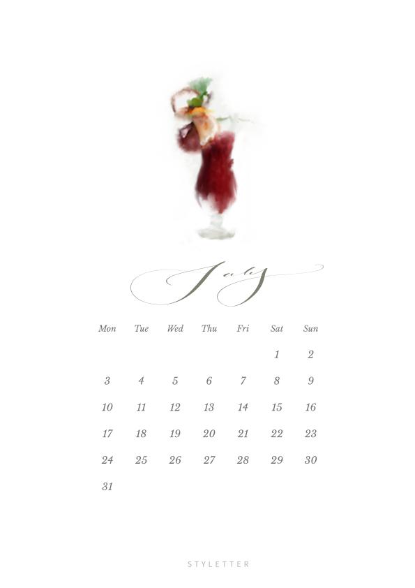 lipiec kalendarz do wydyrku