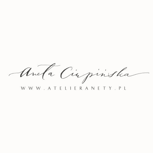 Kaligraficzny logotyp dla Atelier Anety